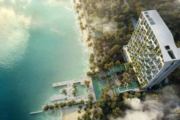 Impresivan hotel sa vazdušnim vrtovima, veštačkim vodopadima i plutajućim bazenima