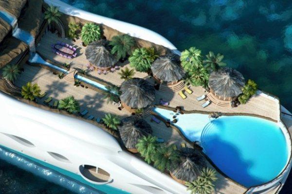 Plutajuće tropsko ostrvo za odmor daleko od svih i svega