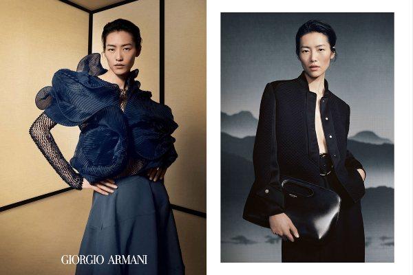 Liu Wen pozira u Giorgio Armani kampanji za jesen/zimu 2021