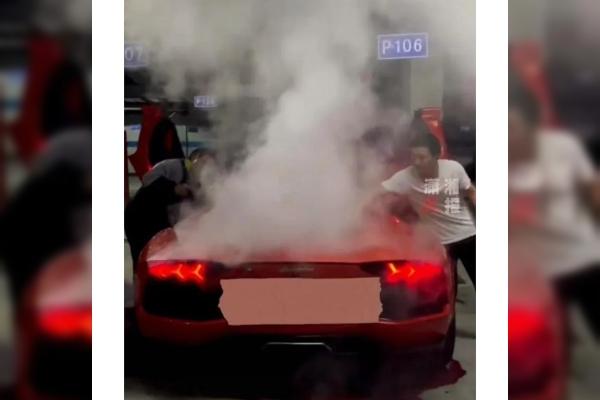 Biti mlad, bogat i glup: čovek uništio Lamborghini pokušavajući da roštilja na njemu