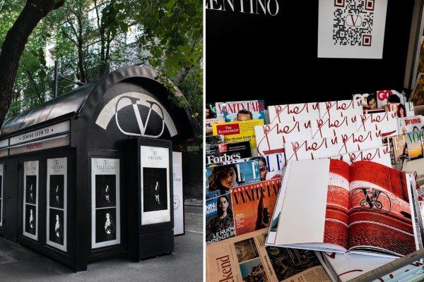 Butik Valentino pretvoren je u pozorišnu scenu povodom Salone del Mobile