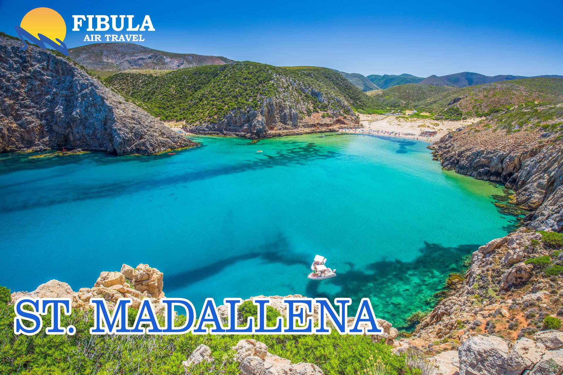 St. Madallena ruzicasta plaza Sardinija leto 2019 turisticka agencija Fibula Air Travel